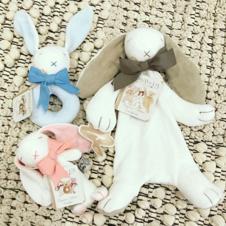 Our beautiful Bunny baby gifts made from organic cotton can be found at www.maudnlil.com.au 🐰🐰🐰
