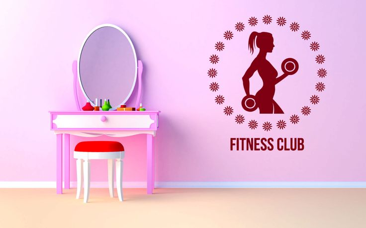 Wall Vinyl Sticker Decals Mural Room Design Bedroom cross fit training fitness club work out gym bo2858 by RoomDecalsAndDesigns on Etsy