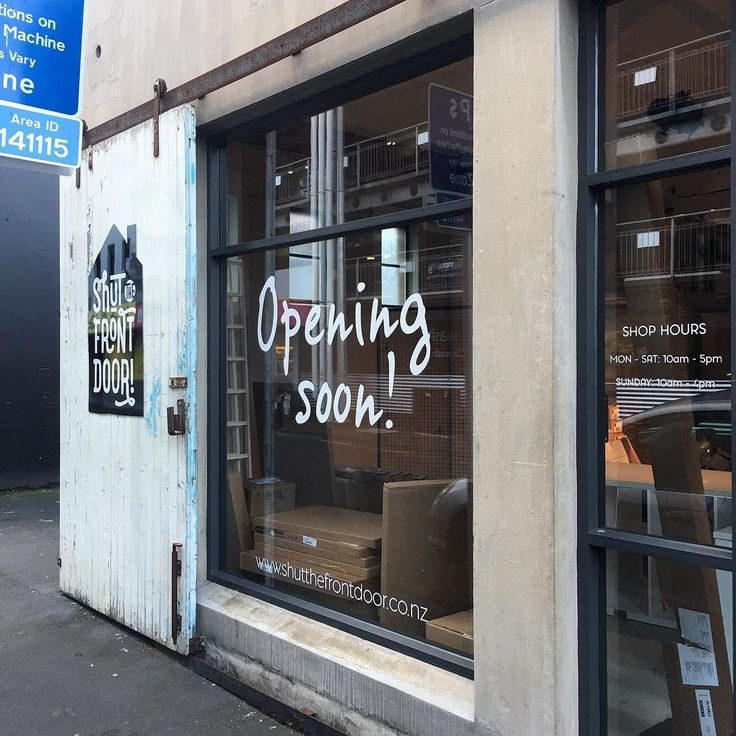 Exciting day today with some of the signage going up at new store in Newmarket... watch this space for more images of inside #newstore #progress #needcoffee #shutthefrontdoorstore #newmarket