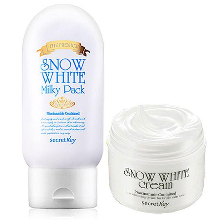 Secret Key Snow White Milky Pack The Premium + Snow White Cream - Strawberrycoco