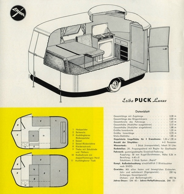hymer eriba puck hymer caravan camping design vintage. Black Bedroom Furniture Sets. Home Design Ideas