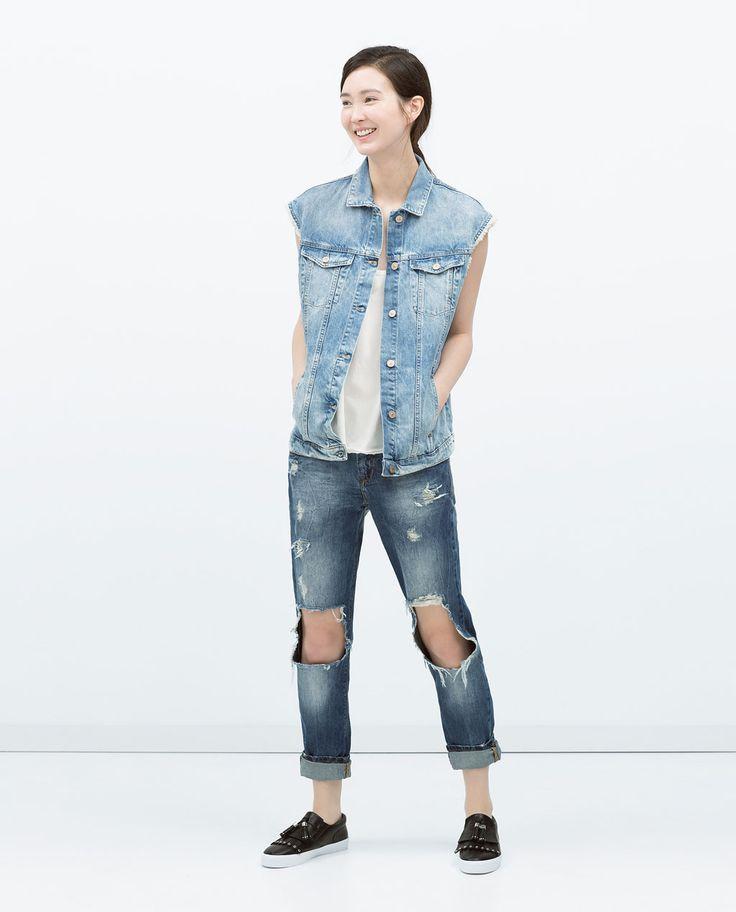 Image 1 of DENIM WAISTCOAT from Zara