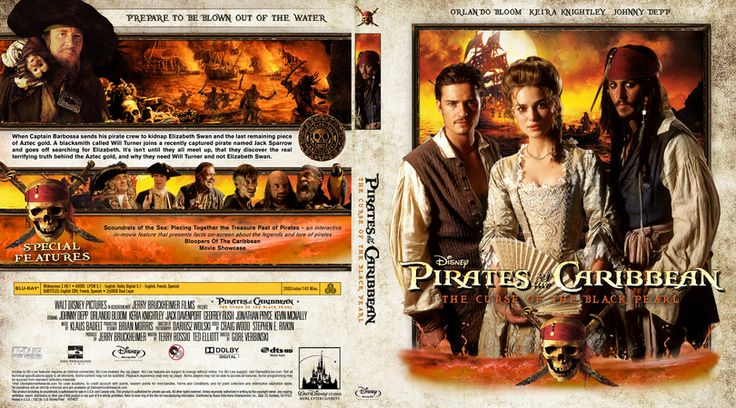 Pirates of the Caribbean: The Curse of the Black Pearl (2003) Blu-ray Custom Cover