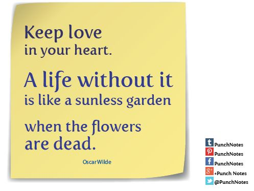 *Keep Love*   A Oscar Wilde love quote.