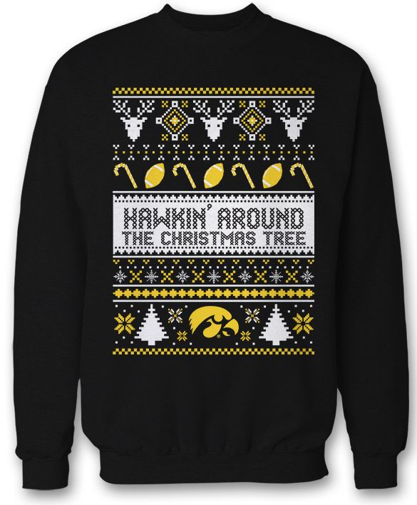 Iowa Hawkeyes Ugly Christmas Sweatshirt Sweater