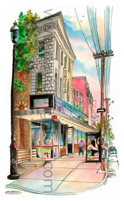 #Drake Hotel, #Toronto, Ontario by #artist-#illustrator #DavidCrighton #Art