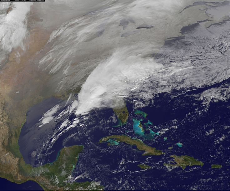 Satellite Shows Major Winter Storm Hitting the U.S. South