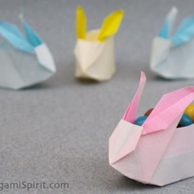 Origami Bunny Box – Don't wait for Easter to fold it!