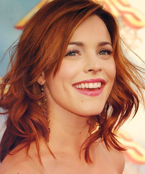 Do I dare lose my blonde & go copper??  Rachel McAdams Love the copper hair.