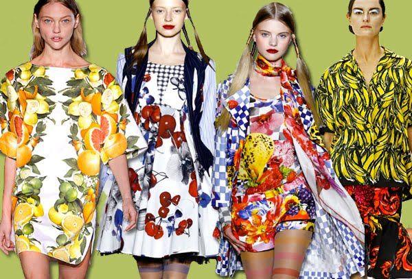 fruit fashion prints