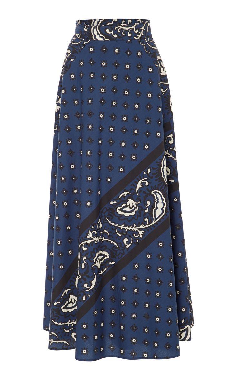 Bandana Print A-Line Skirt by RED VALENTINO Now Available on Moda Operandi