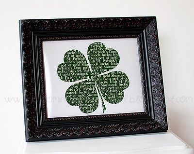 60 St. Patrick's Day Free Printables!  For cupcakes, banners, art...tons of great stuff!