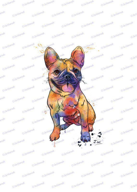 Sublimation Designs Download T Shirt Png Printable Design Etsy Dog Clip Art French Bulldog Art Digital Ink