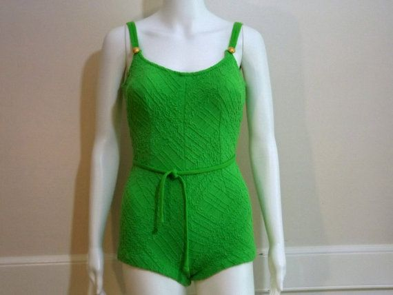 1960's CATALINA Bright Green Swimsuit Size 14 by KatsCache on Etsy, $64.95
