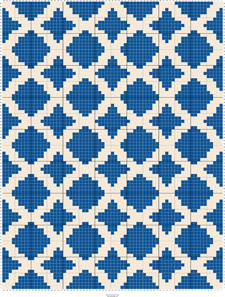 Moroccan trellis 2 | Designed by Rocky (Rockin Lola) | Stitch Fiddle
