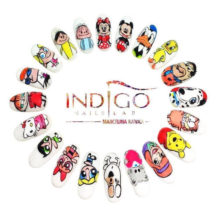 by Marcelina Rawka, Follow us on Pinterest. Find more inspiration at www.indigo-nails.com #nailart #nails #icon