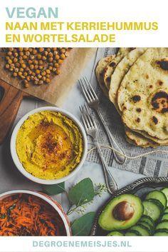 Vegan recept voor simpel en snel Naan brood met kerriehummus en gekruide wortelsalade. Dit naanbrood is ook heerlijk bij een pan curry, een kop soep of met een sojayoghurtdip, bij de borrel. Een ideaal basisrecept. Lees de stap-voor-stap handleiding op de blog.