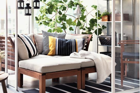 14 Styling Tricks To Steal From The IKEA 2015 Catalog #refinery29  http://www.refinery29.com/ikea-catalogue-styling-tips#slide4  Layer pillows with stripes in alternating directions.