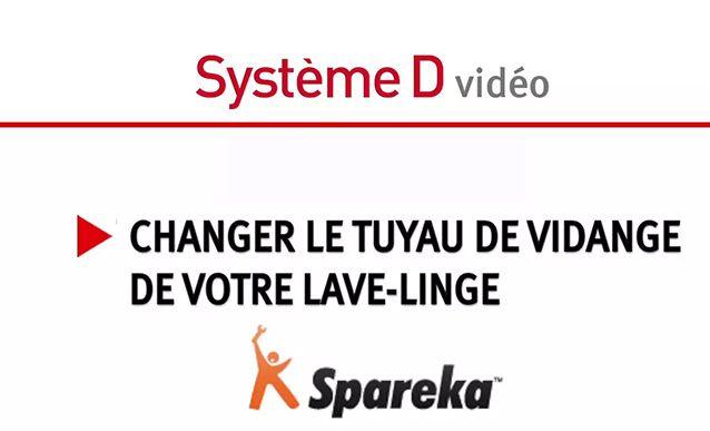 Tutoriel vidéo pour remplacer soi-même un tuyau de vidange de machine à laver le linge.