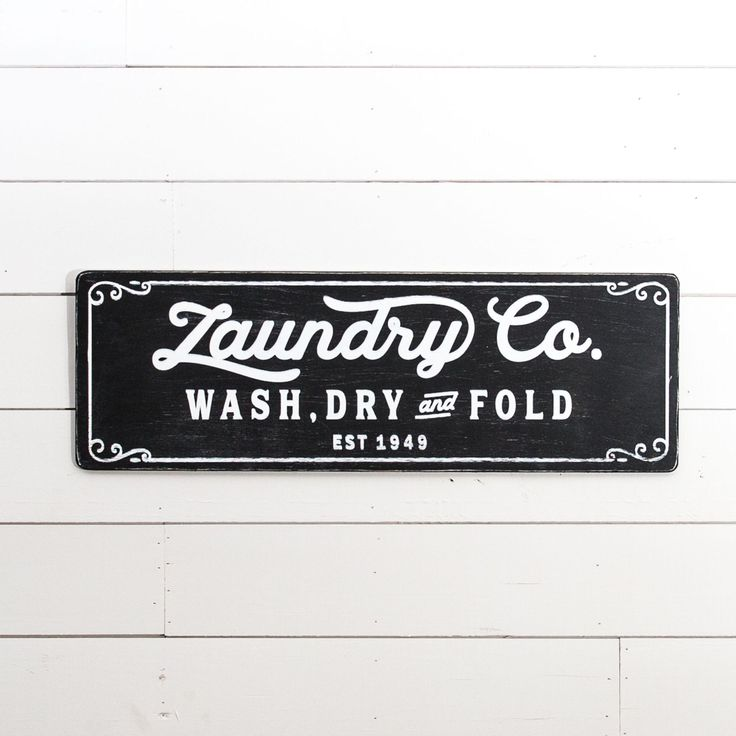 """Laundry Co."" Wooden Sign - Magnolia Market 
