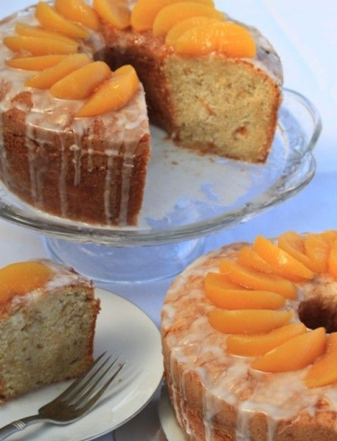 Peach Pound Cake from Savannah Classic Desserts ...recipes from Favorite Savannah Resturants.