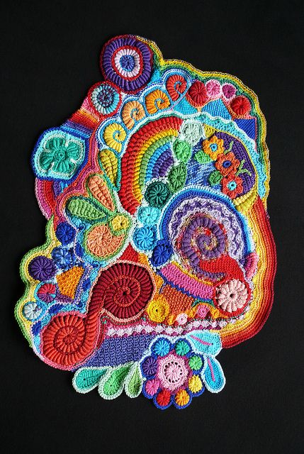 "Freeform Crochet, ""Scrumble"" by hykevandermeer"