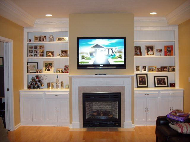 18 best living room images on Pinterest Fireplace built ins