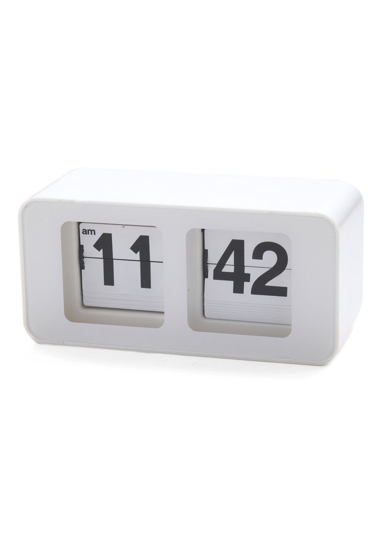 Time Peace Clock. Your personal space is a sanctuary, styled for serenity from the accessories on your desk to the framed designs on the wall - not to mention this cool, retro-inspired flip clock! #white #modcloth
