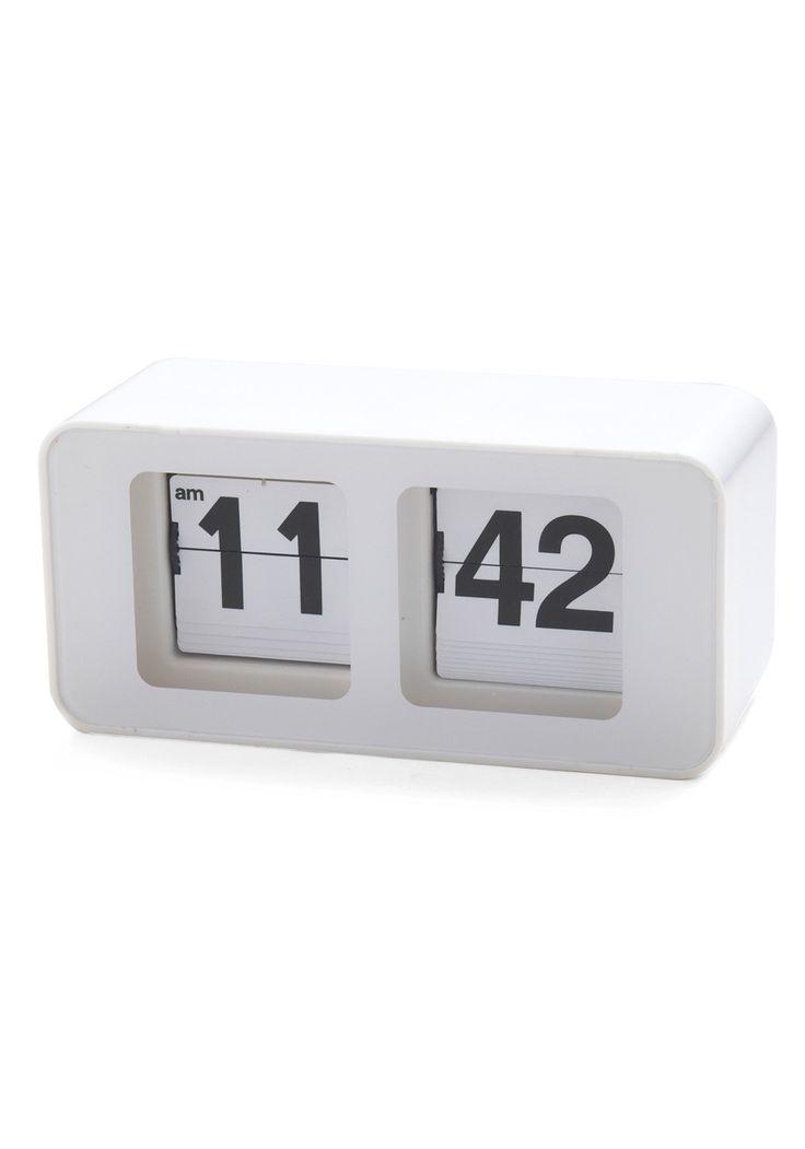 Time Peace Clock | Mod Retro Vintage Decor Accessories | ModCloth.com    Clock with flip numbers. Sweet...