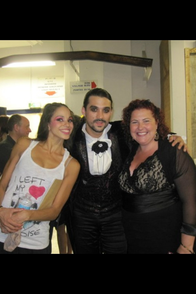 Visiting friend and past client Florent Mothe. Backstage with he and the lovely Tamara after the grand finale of L'Opera Mozart