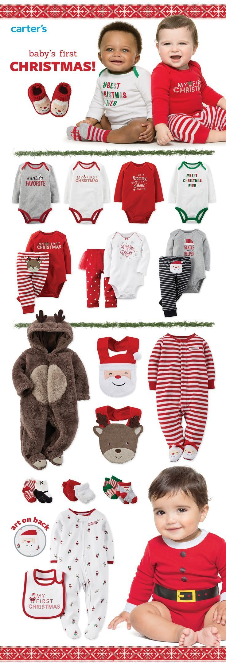 Your one-stop shop for baby's first Christmas! Holiday bodysuits, Santa suits, sleep & play, sets & little extras. We've got you covered head to toe!