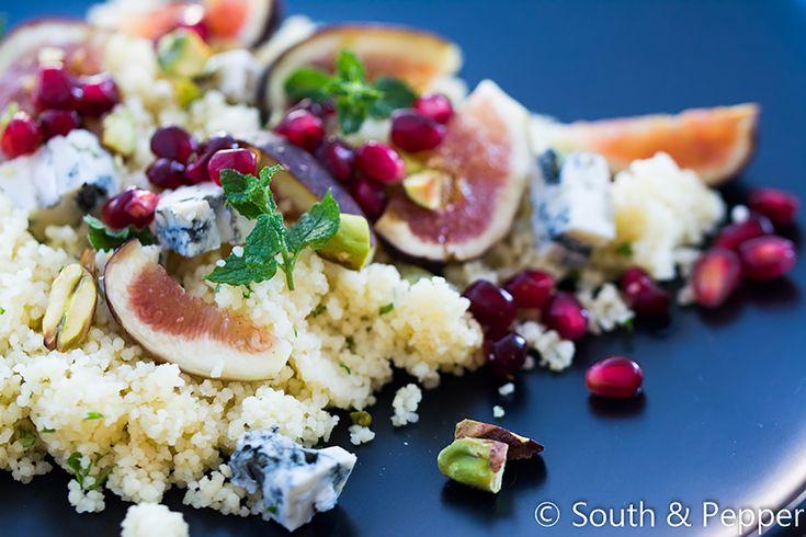 Snelle couscoussalade met vijgen en gorgonzola