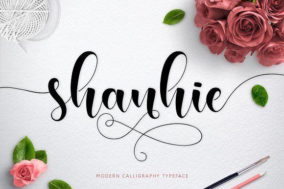 Shanhie Script + Bonus by Jamalodin on @creativemarket