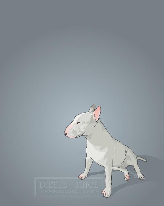 Bull terrier print @Carlos Navarro García Navarro García Chobs