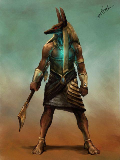 Anúbis, deus da mitologia do Antigo Egito - Representação artística