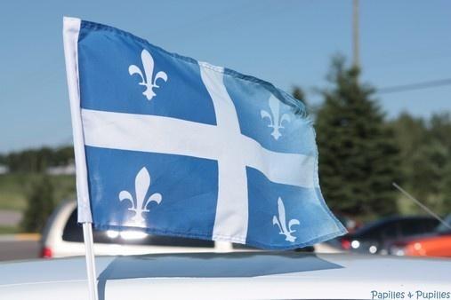Drapeau du Québec depuis le 21 janvier 1948 adopté par l'Assemblée nationale de l'État du Québec.