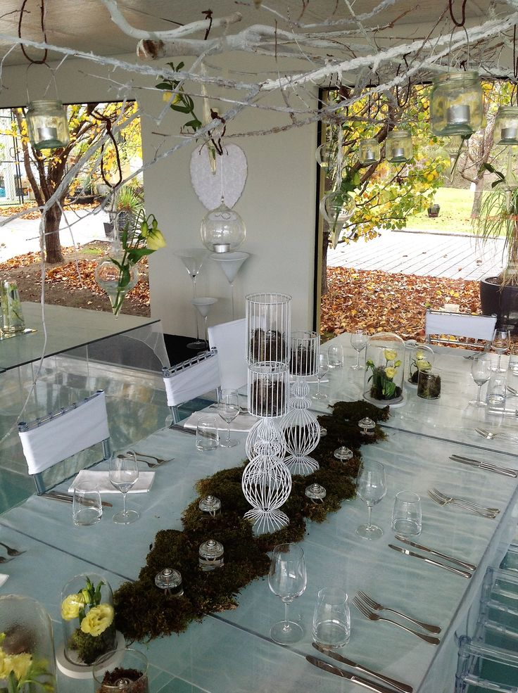 Bring the outside in with this creative nature inspired party theme  at Glen Albyn Estate #glenalbynestate