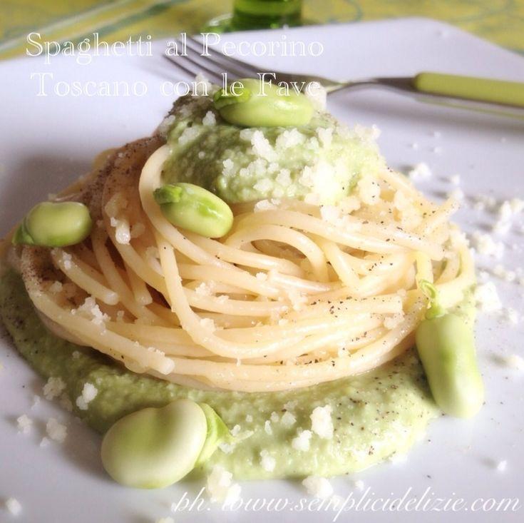 Spaghetti al Pecorino Toscano con le Fave ❤️ | Semplici Delizie