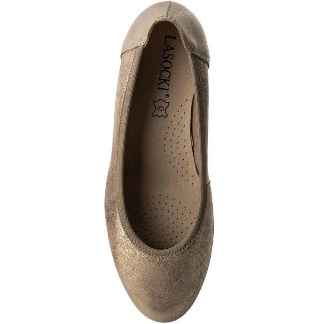 Polbuty Lasocki Markiza 01 Zloty Shoes Fashion Flats