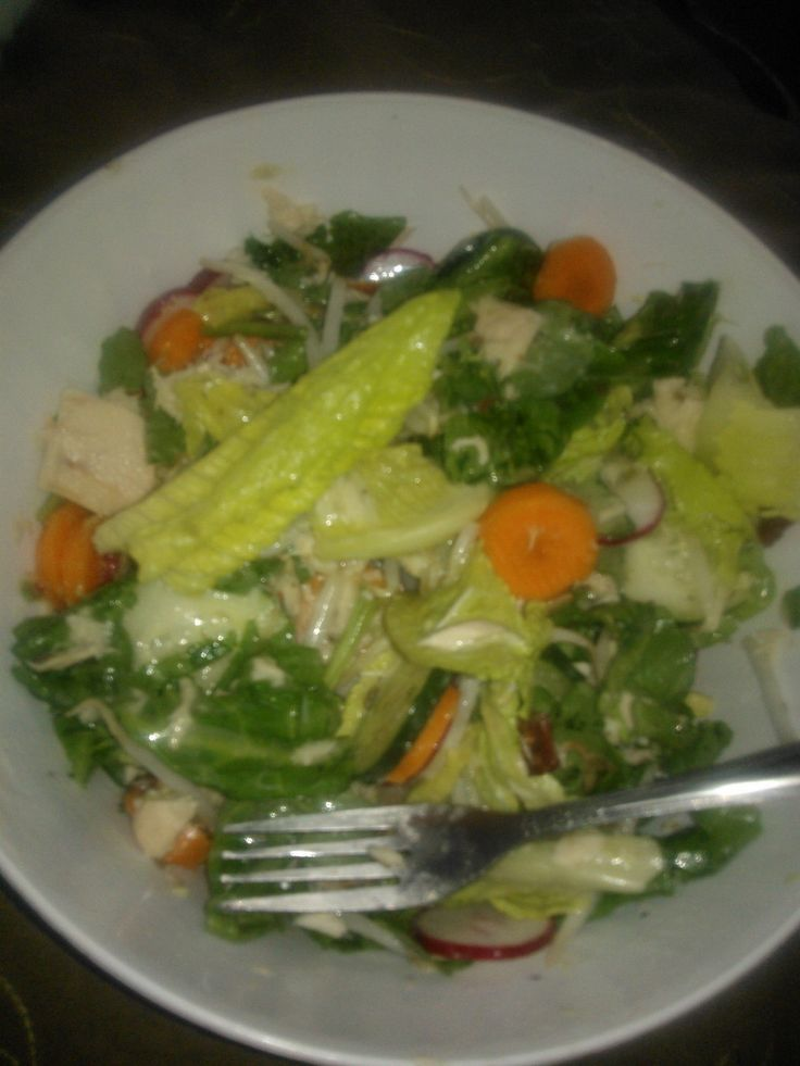 Romaine Salad w/Tuna...It just LOOKS like it's good for you