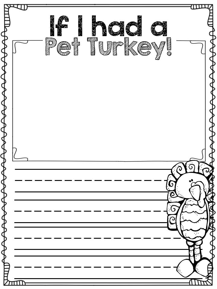 Thanksgiving writing activities for second graders