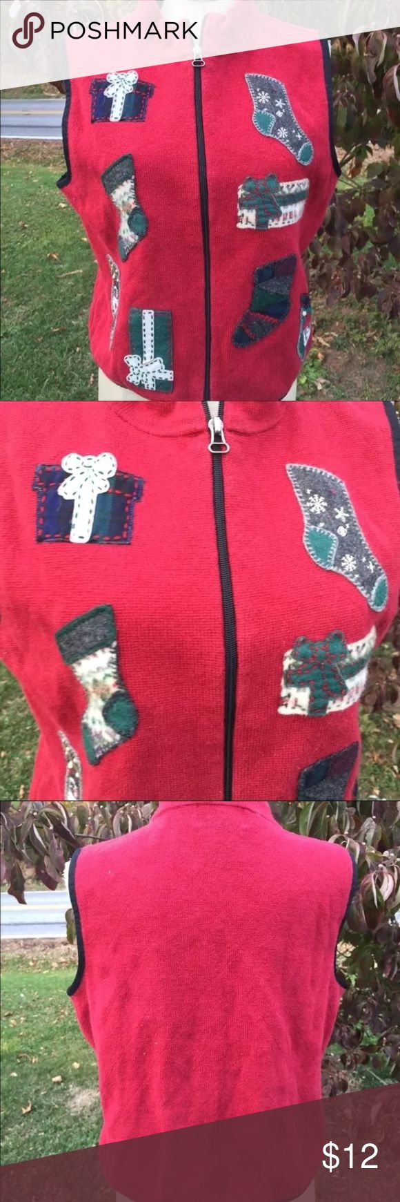 Ugly Christmas Sweater Vest Woolrich Size Medium Size medium. Super gently preowned. Be sure to view the other items in our closet. We offer  women's, Mens and kids items in a variety of sizes. Bundle and save!! We love reasonable offers!! Thank you for viewing our item!! Woolrich Sweaters