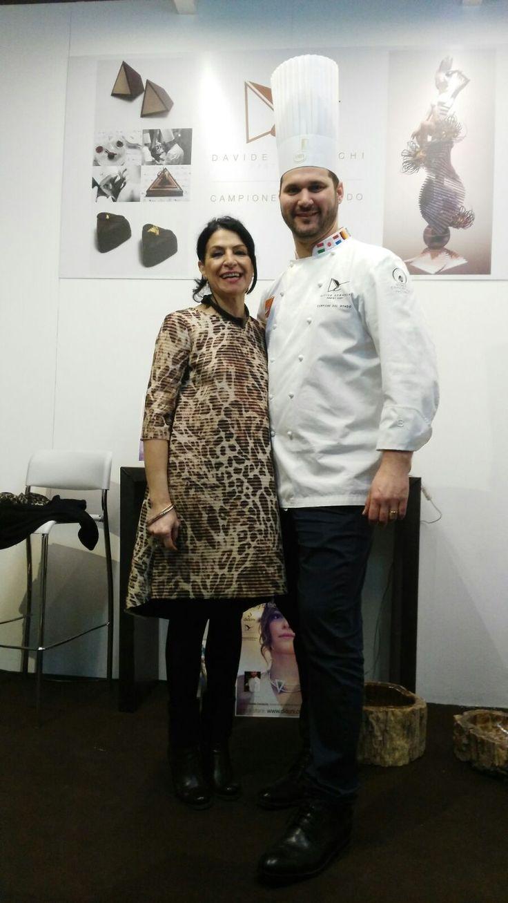 Davide Comaschi con la nostra desiner Rosy Venetucci