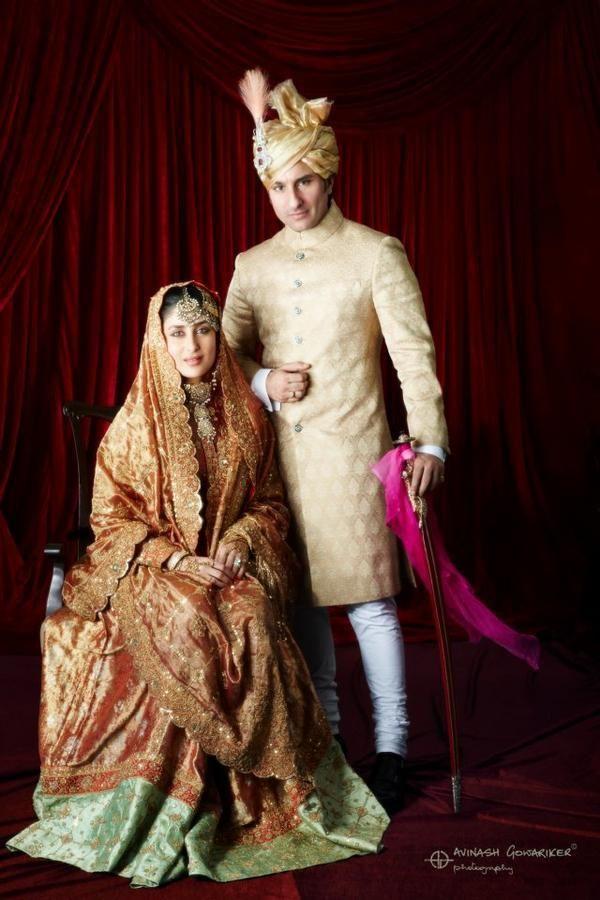 Official Wedding Photo of Saif Ali Khan and Kareena Kapoor Khan from http://www.pinkvilla.com/entertainmenttags/saif-ali-khan/exclusive-wedding-photo-saif-ali-khan-and-kareena-kapoor-khan