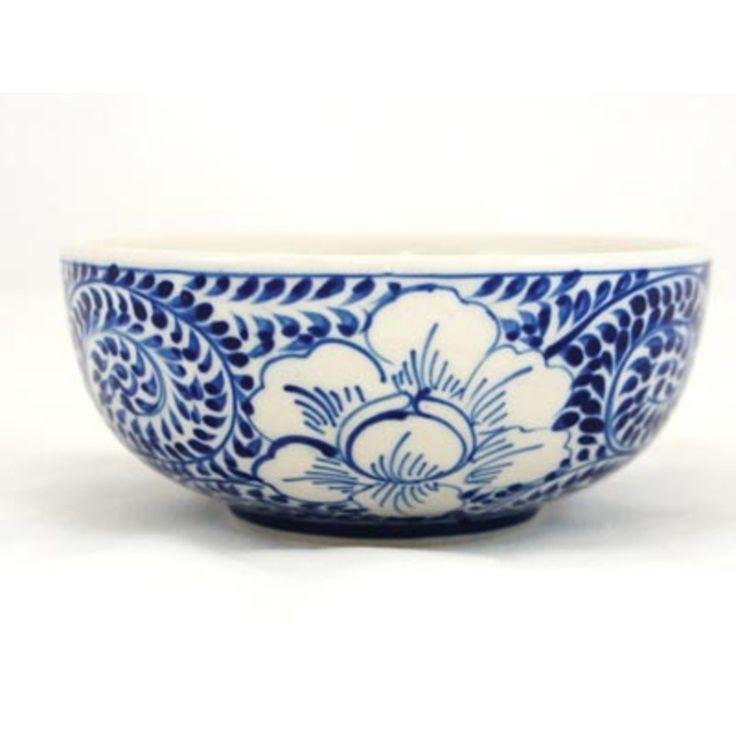 $12.95 / Peony Design Ceramic Bowl from Oxfam