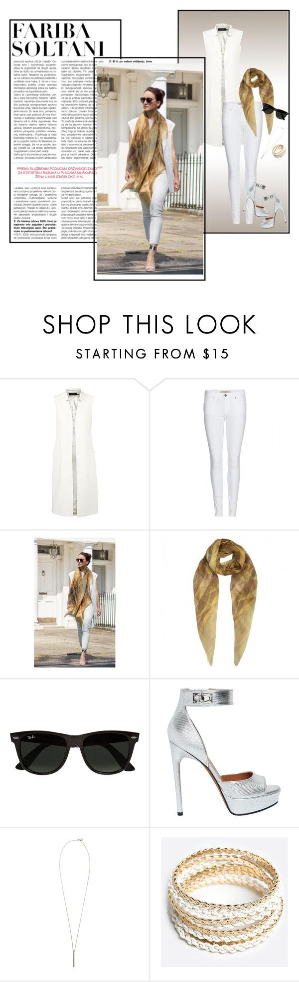 """""""Fariba Soltani"""" by pinky03 on Polyvore featuring Karen Millen, Burberry, Ray-Ban, Givenchy, French Connection, ZooShoo and faribasoltani"""