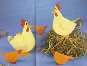 3d chick and chicken craft