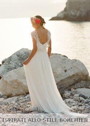 abiti-sposa-boho-shabby,leggeri,matrimonio al mare