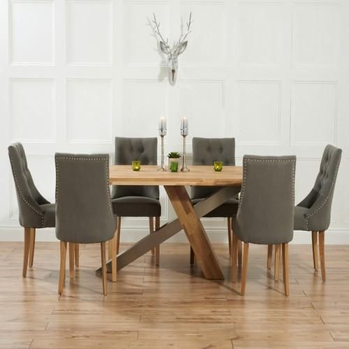 The Montana 195cm Oak Dining Table with 6 Pailin Dining Chairs is a beautiful part of the Mark Harris Dining Set Range. Mark Harris Furniture is a family-owned furniture manufacturer that offers a excellent range of high quality furniture. Mark Harris specialise in providing quality solid oak furniture, they also work with a variety of other materials, such as metal, solid pine, solid walnut and glass. Specification • Brand: Mark Harris • Collection Name: Mark Harris Dining Sets •…