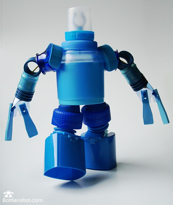 robots made from recycled bottles!